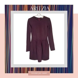 Aritzia Wilfred Maroon Dress